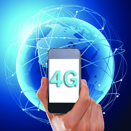 4G World with phone