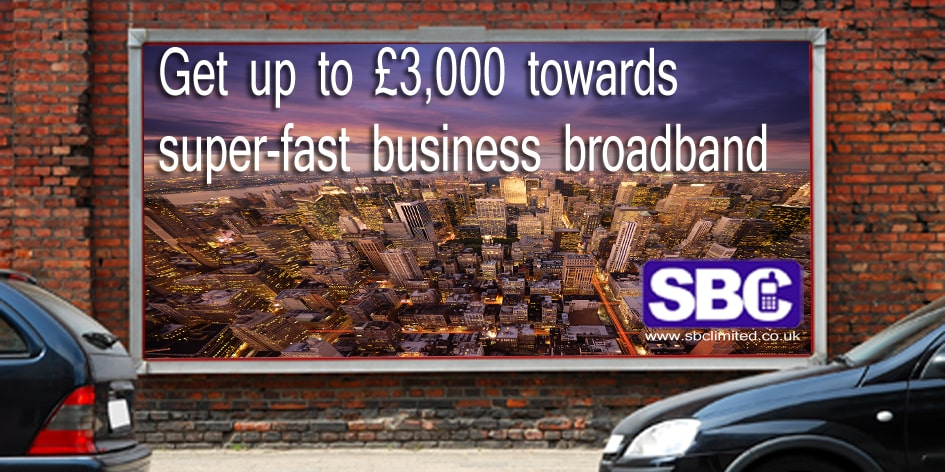 Buy fibre broadband for your business.
