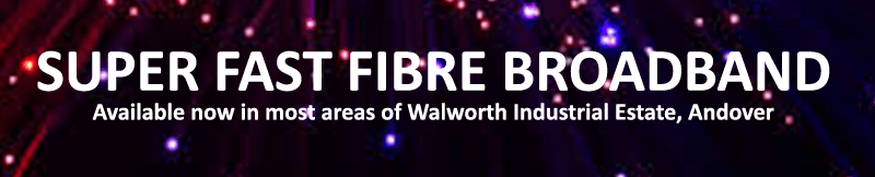 Fibre broadband now available on Walworth Industrial Estate, Andover