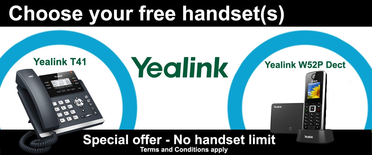 Choose your FREE Yealink Static of DECT Cordless Handsets