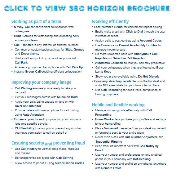 View SBC Horizon Brochure