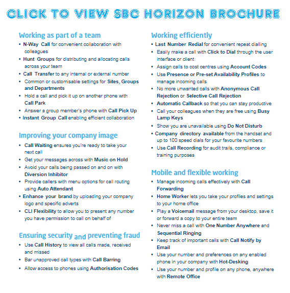 Click to view SBC Horizon Brochure