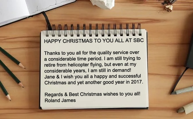 Lovely message from another happy SBC customer!