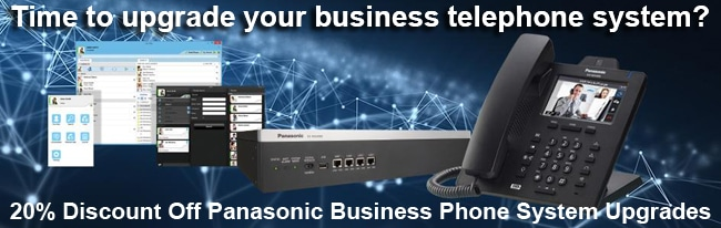 20% Discount on new Panasonic business telephone systems