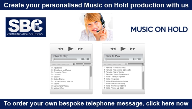 Create your personalised Music on Hold production with us!