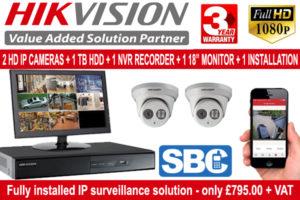Hikvision 2 IP Cameras - Only £795.00 + vat