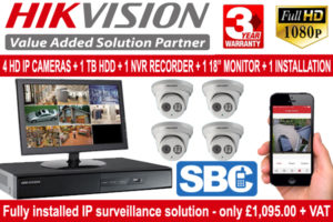 Hikvision IP CCTV Package 4 Cameras