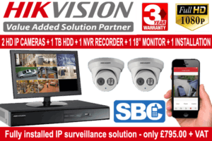 CCTV Package 2 Cameras with Installation
