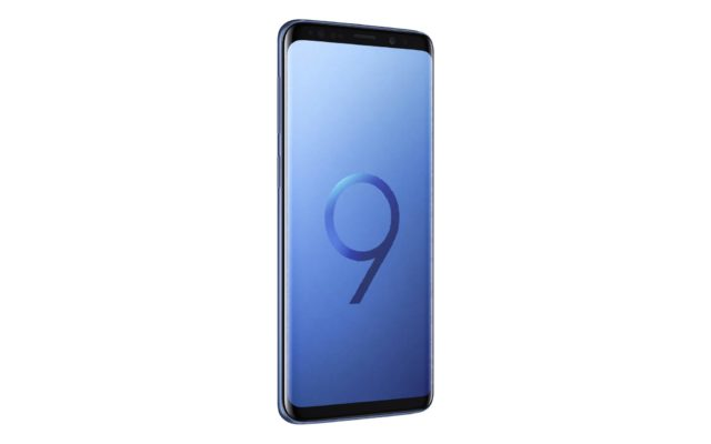 Samsung Galaxy S9 Coral Blue Side