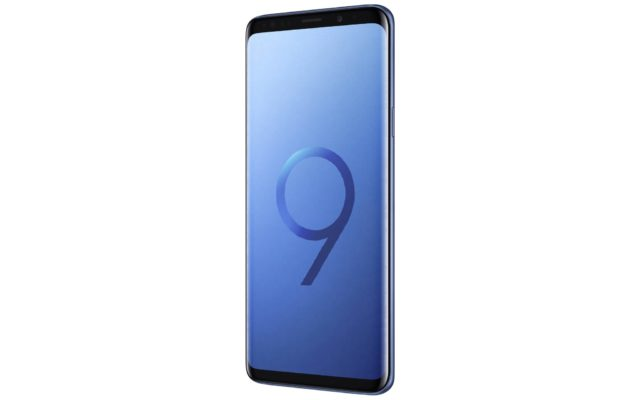 Samsung Galaxy S9 Coral Blue Tilted