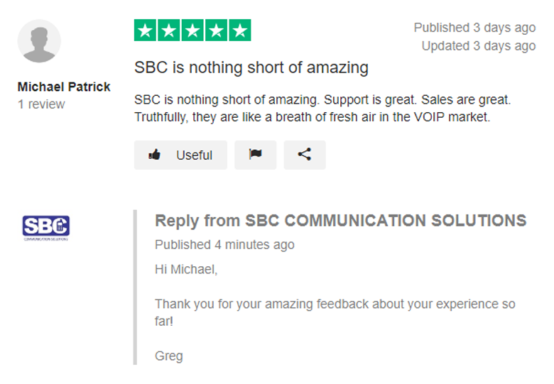 SBC Review Trustpilot