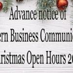 Opening Hours Christmas 2018 SBC