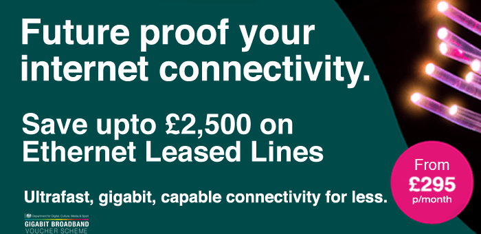 Save upto £2,500 on Gigabit Ethernet Leased Lines