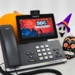 Yealink T58V with SBC Halloween Wallpaper Background