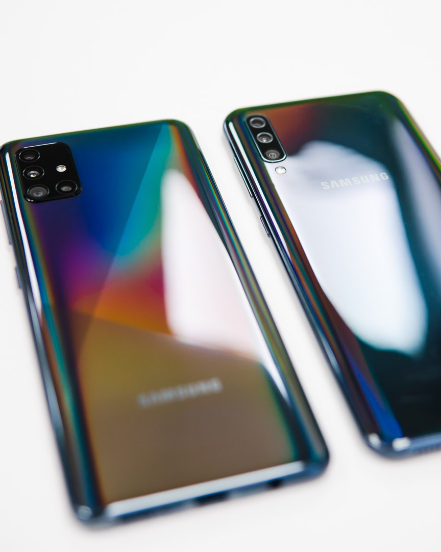 The all-new Samsung Galaxy A51 led next to its predecessor the Samsung Galaxy A50.