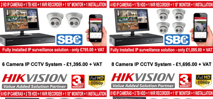 Hikvision IP CCTV Systems fully installed from £795.00 + VAT