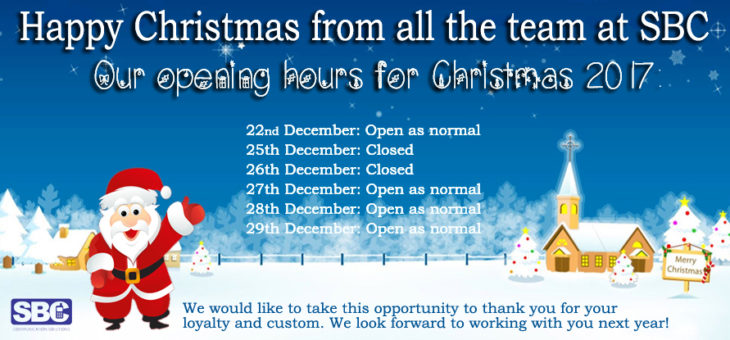 We would like to wish all of our customers a very Merry Christmas and a Happy New Year.