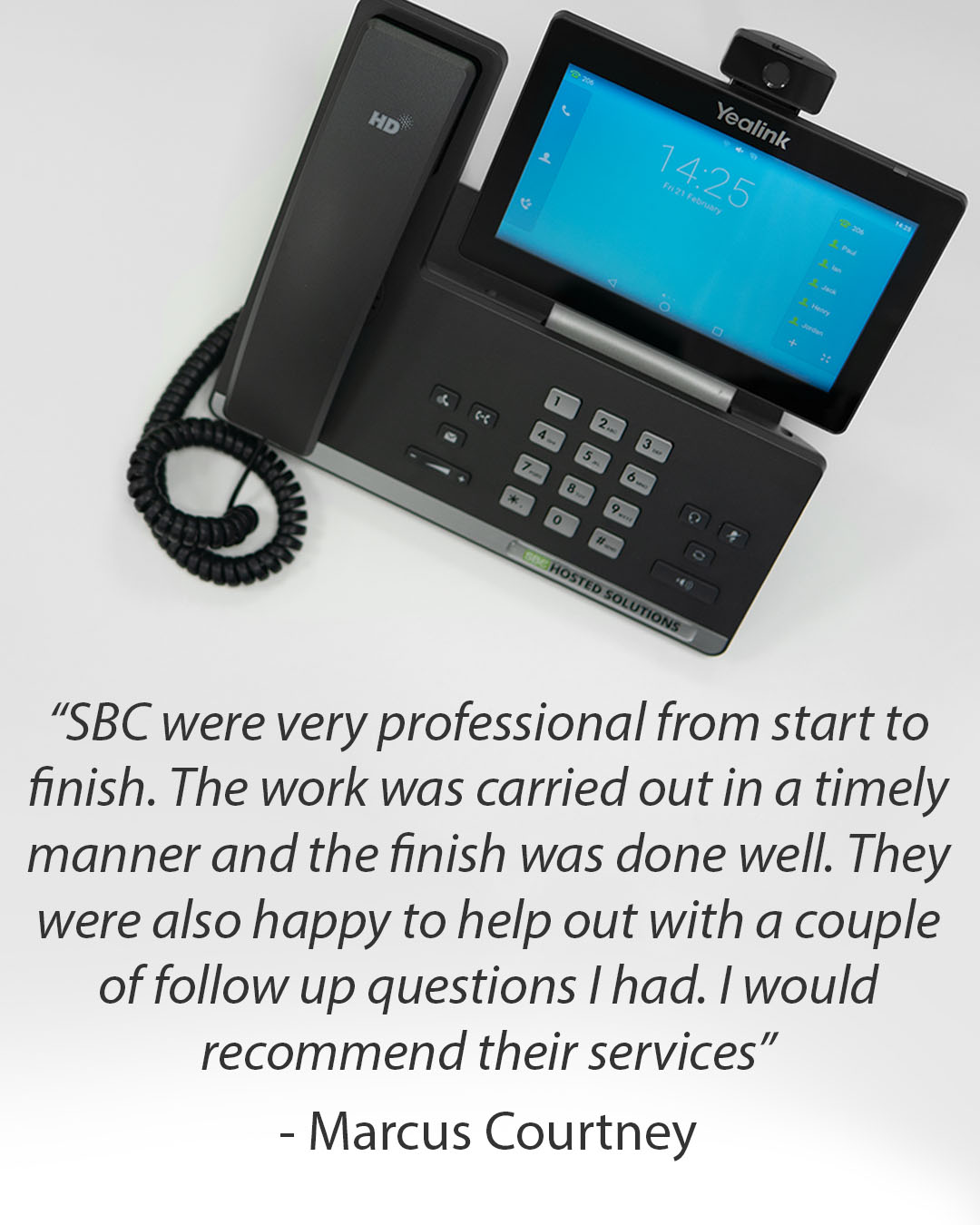 Review of Southern Business Communications by happy customer Marcus Courtney