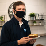 Henry wearing a face mask for his 6th anniversary to create a Covid-19 Secure Celebrations environment.