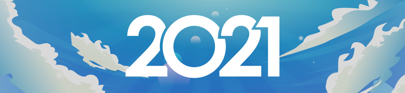 Best Cloud Phone System 2021 Number 1 UK Cloud System Banner. 2021 text in the clouds with a blue sky