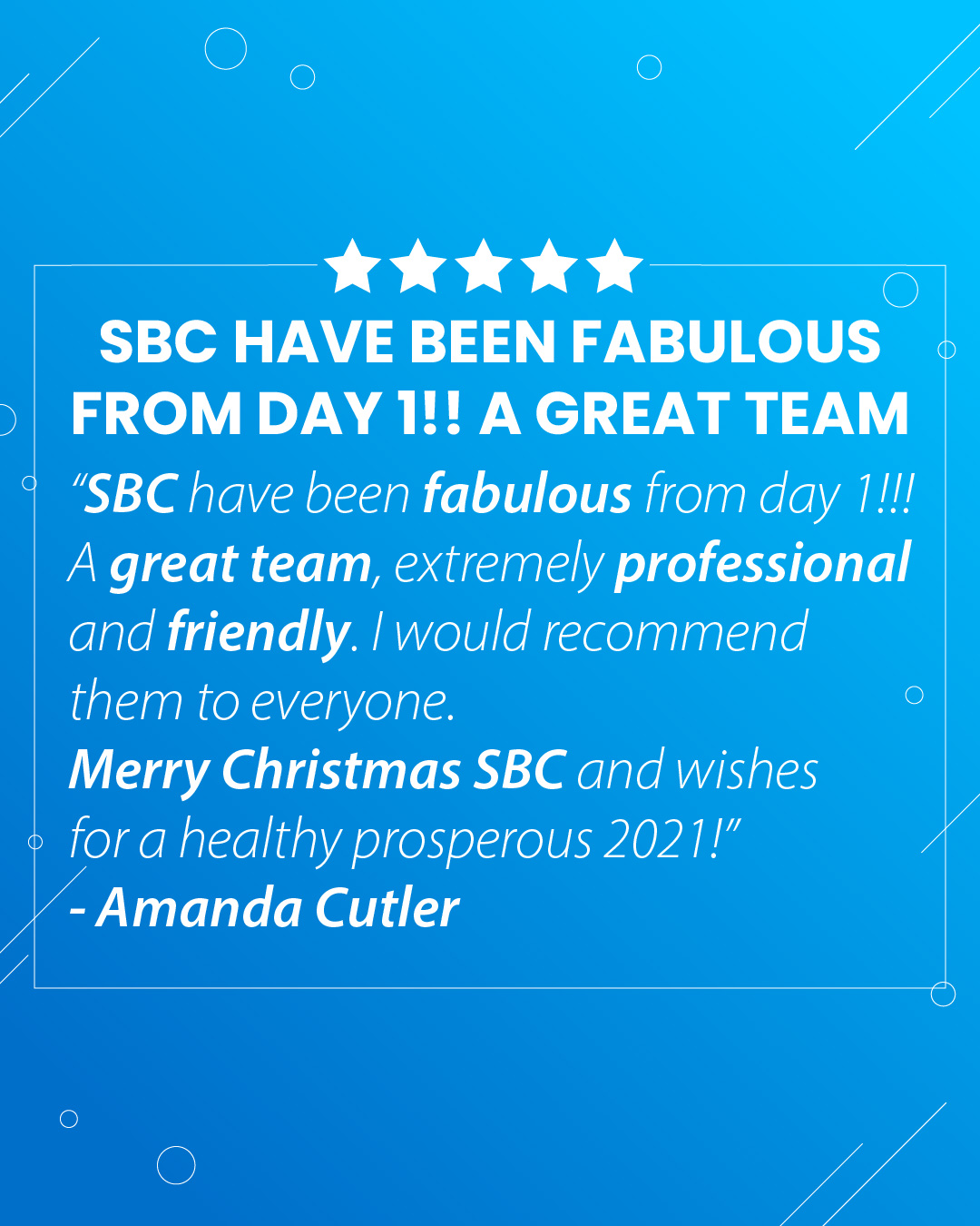 SBC Reviews: Amanda Cutler's 5-Star Review