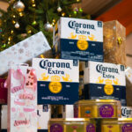 The SBC Team Christmas Gifts including corona beers, fruity wine and quality streets.